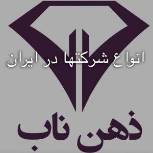 انواع شرکت ها در ایران